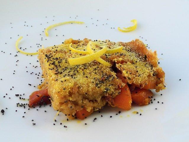 Tortino di riso basmati integrale con carote al limone