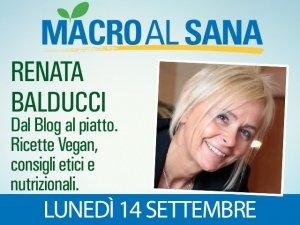 Renata Balducci al Sana 2015 con le ricette dei blogger di Veganblog