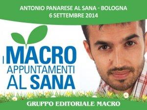 Come essere buoni genitori anche a tavola:  Antonio Panarese lo spiega al Sana