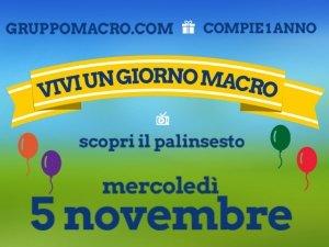 Gruppomacro.com compie un anno: festeggia con noi!