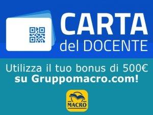 Carta del Docente: utilizzala su Gruppomacro.com