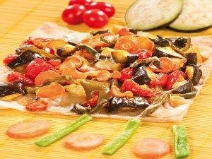 Ricetta della pizza vegetariana sottile