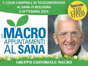 """T. Colin Campbell in videoconferenza al Sana: """"l'alimentazione ideale è quella naturale e vegetale"""""""