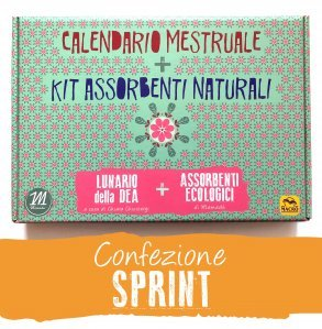 Calendario Mestruale + KIT Assorbenti Naturali - SPRINT - cofanetto base