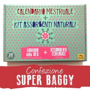 Calendario Mestruale + KIT Assorbenti Naturali - SUPER BAGGY - cofanetto super