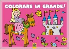 Colorare in Grande! Rosa - Libro