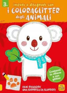 Imparo a Disegnare con i Coloraglitter degli Animali - Libro