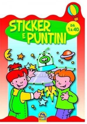 Puntini 4 - Con Stickers Colorati  - da 1 a 40 Puntini - Libro