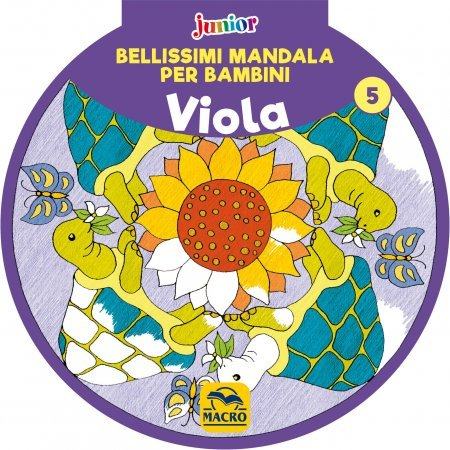 Bellissimi Mandala per Bambini Vol.5 - Viola - Libro