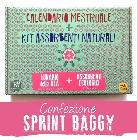 Calendario Mestruale + KIT Assorbenti Naturali - SPRINT BAGGY - cofanetto sprint baggy