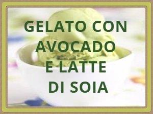 GELATO CON  AVOCADO  E LATTE DI SOIA